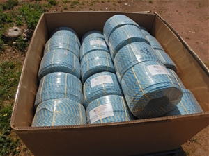 Qty 34 x Rolls Of Blue/ Yellow Rope (Buc