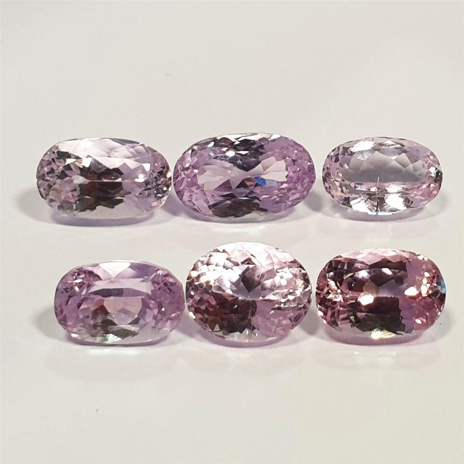 6 Pcs Pink Kunzite 41.67 Ct