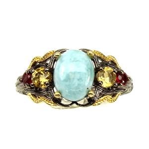 Unique Genuine Larimar Sapphire & Citrin