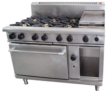 WALDORF 6 BURNER STOVE GRILL PLATE AND OVEN