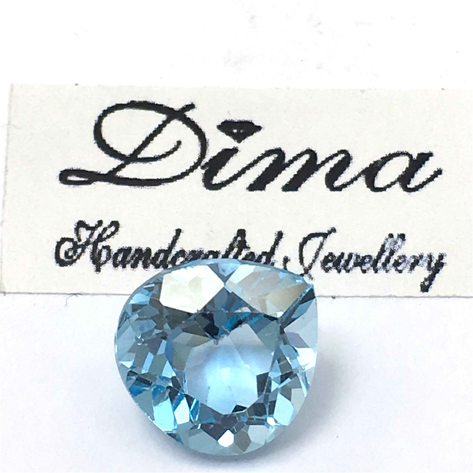 One Stone Blue Topaz 7.21ct in Total