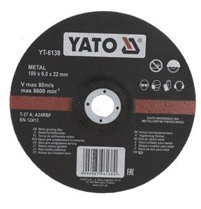 5 x YATO Metal Grinding Discs 180 x 6.0