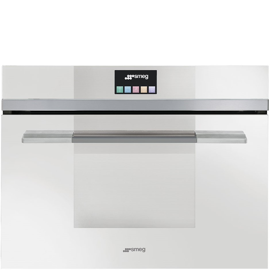 Smeg 60cm White Touch Compact Combi Steam Oven, Linear Model: SFA4140VCB