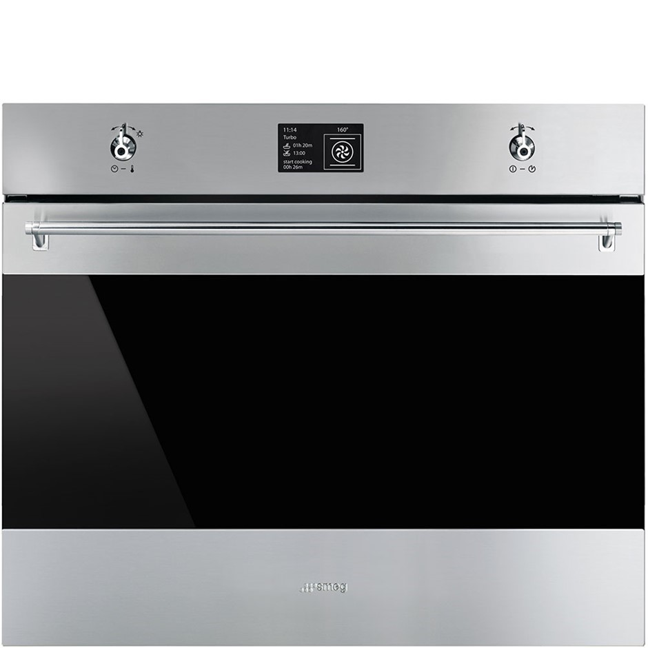 Smeg 70cm Classic Aesthetic Thermoseal Pyrolytic Wall Oven, Model SFPA7395X