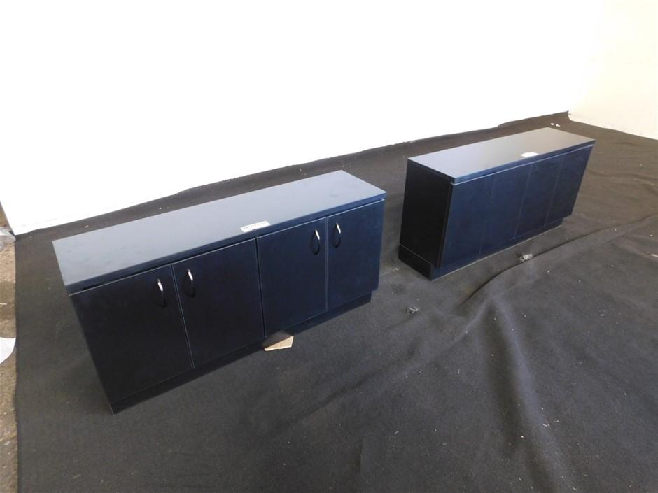 Qty 2 x 4 Door Wall Cabinets