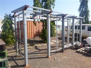 Custom Fabrication Steel Bus Stop Frame