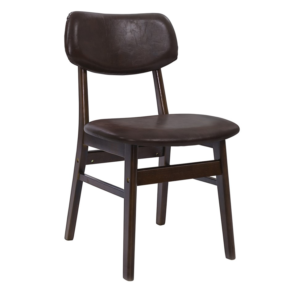 Artiss Dining Chairs Retro Replica Kitchen Cafe Wood Fabric Pad Brown x2