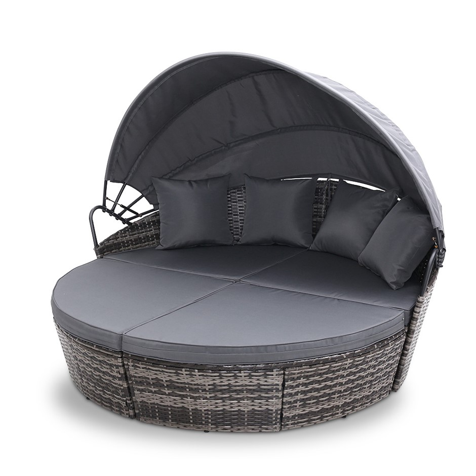 Outdoor Lounge Setting Patio Furniture Sofa Wicker Garden Rattan Cushion