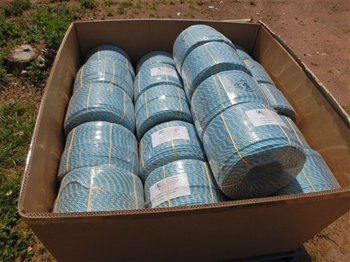 Qty 34 x Rolls Of Blue/ Yellow Rope