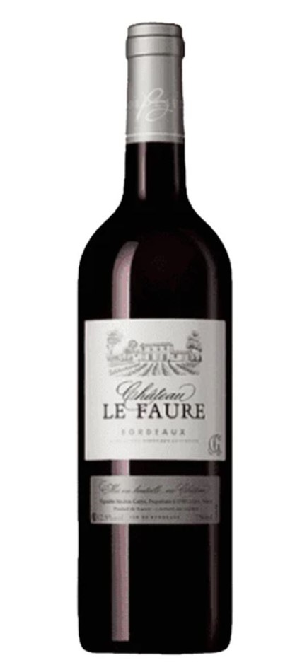 Chateau Le Faure AOC Bordeaux Rouge 2014 (12x 750mL) Bordeaux, France