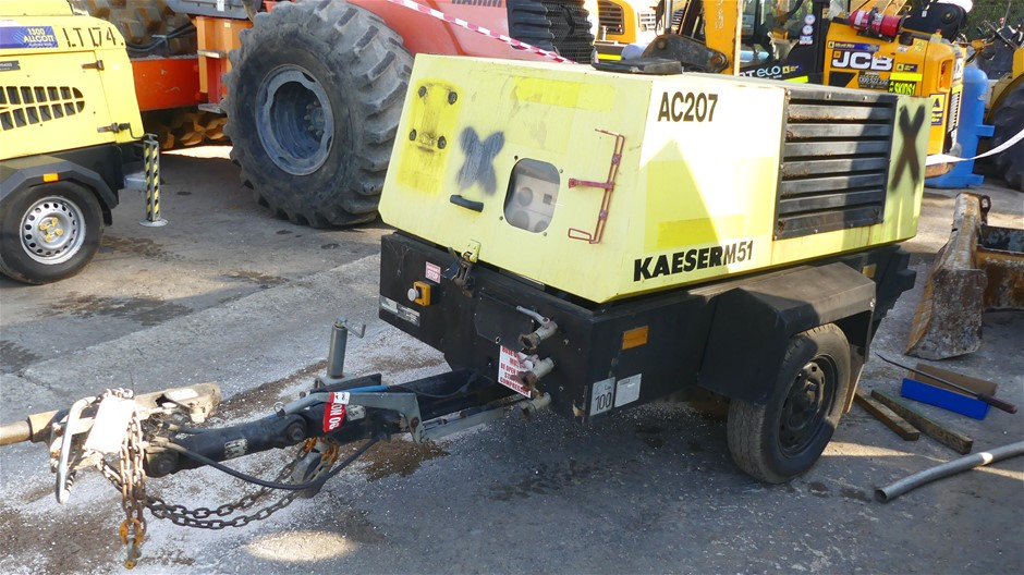 Kaeser M51 Compressor (Non Operational)- Trailer Mounted.
