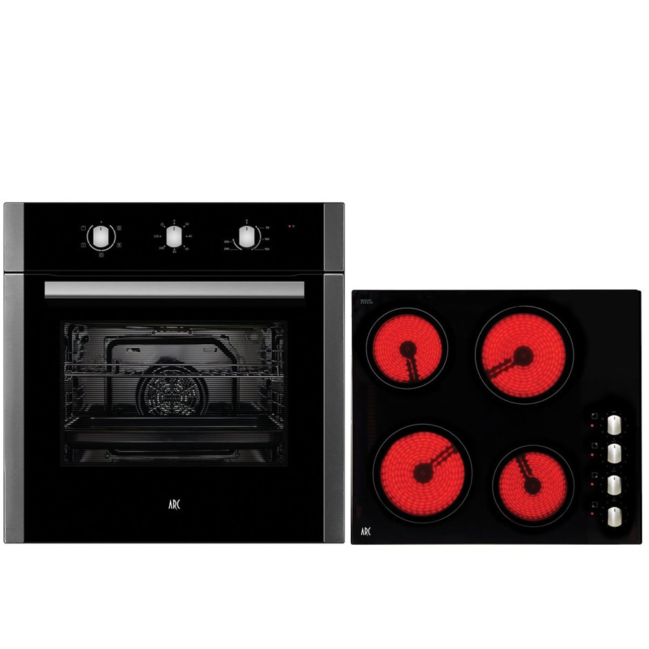 Arc 60cm Electric Oven & 60cm Ceramic Cooktop Pack (ACPC2)