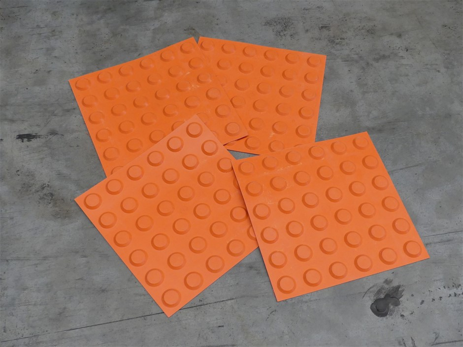 Qty Approx 15 Boxes x PRF T200 Tactile-Ground Surface Rubber Tiles
