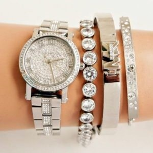 Ladies new Michael Kors couture 'Petite Norie' high fashion watch.