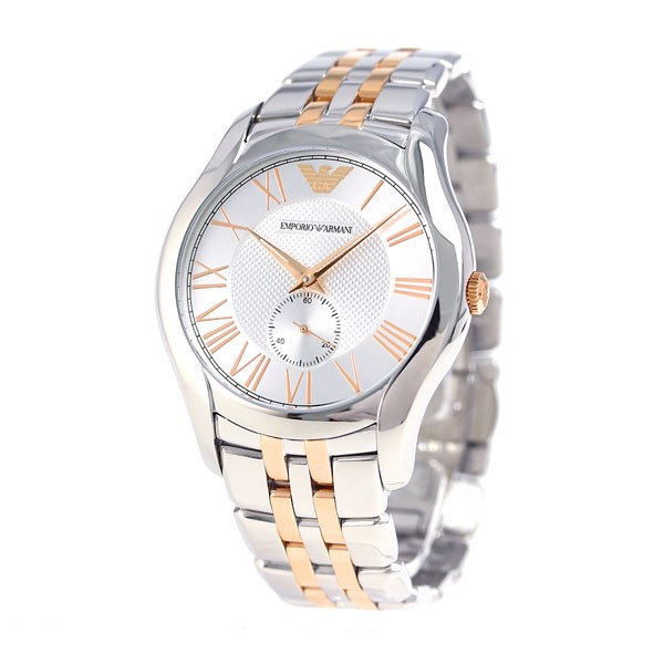 Classic new Emporio Armani Two Tone Stainless Steel Watch.