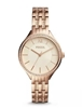 Stunning new Ladies Fossil Suitor rose-gold tone watch.