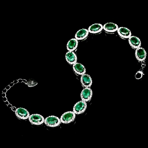 Spectacular Genuine Emerald Tennis Brace