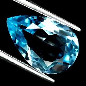 5.91ct. Genuine Pear facet Blue Topaz