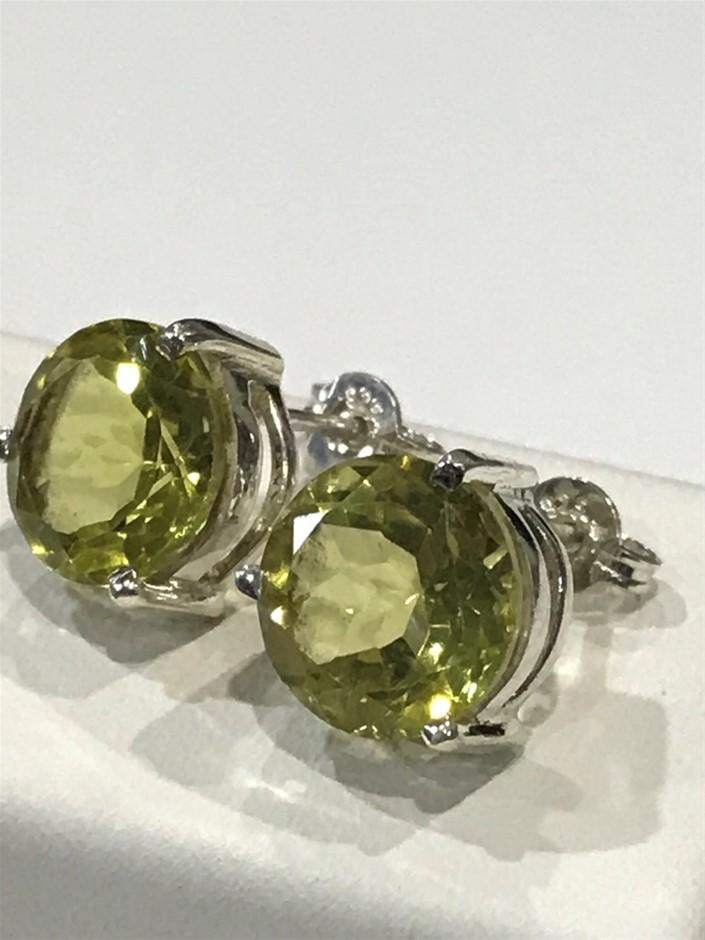 Magnificent Genuine 6.60ct Lemon Topaz Earrings