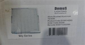 Domus Lighting 40cm, Brushed Aluminium E
