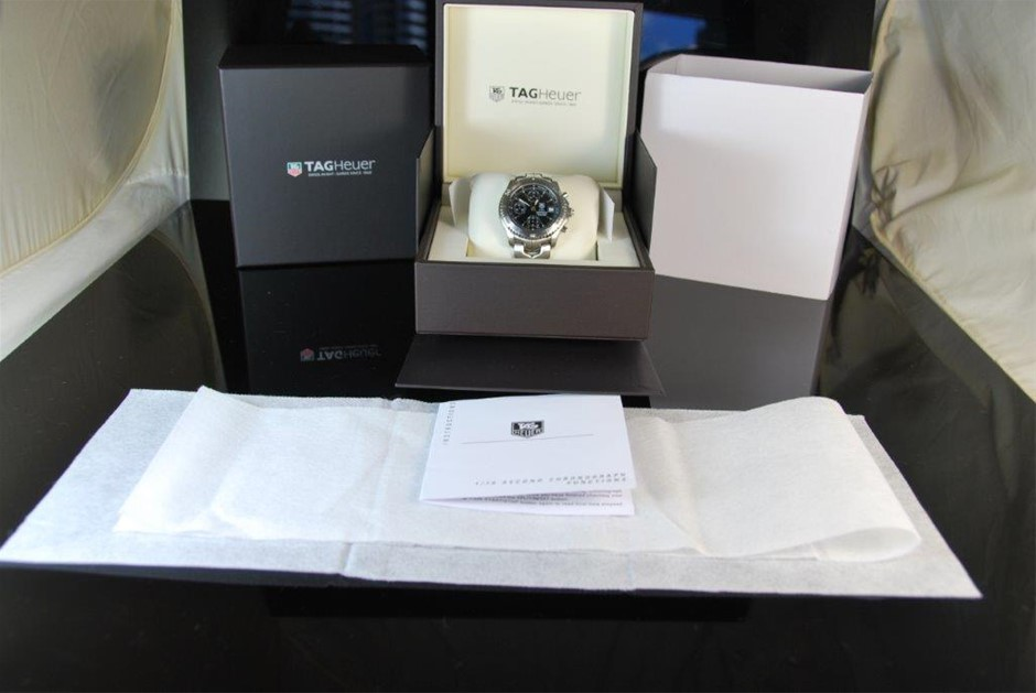 """New Authentic Gents Tag Heuer S/EL Link """"1/10th"""" Chronograph Automatic"""
