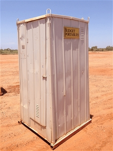 Portable Toilet Cubicle (Location: Karra