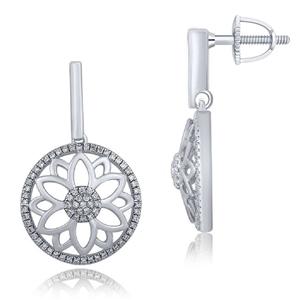 9ct White Gold, 0.22ct Diamond Earring