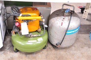 Air compressor with integrated storage t