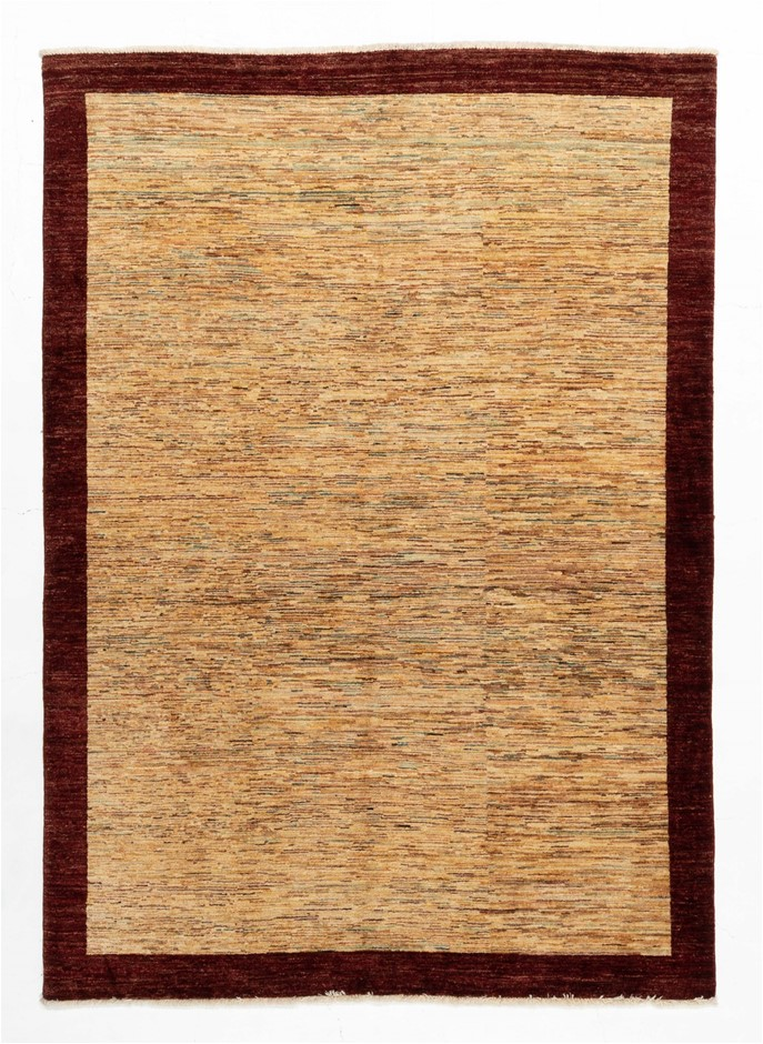 Afghan modern Gabbeh Stripy 100% wool hand knotted rug Size (cm):160x230