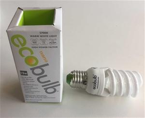 (50 Pack) Ecoglobe 15W E27 2700K Screw F