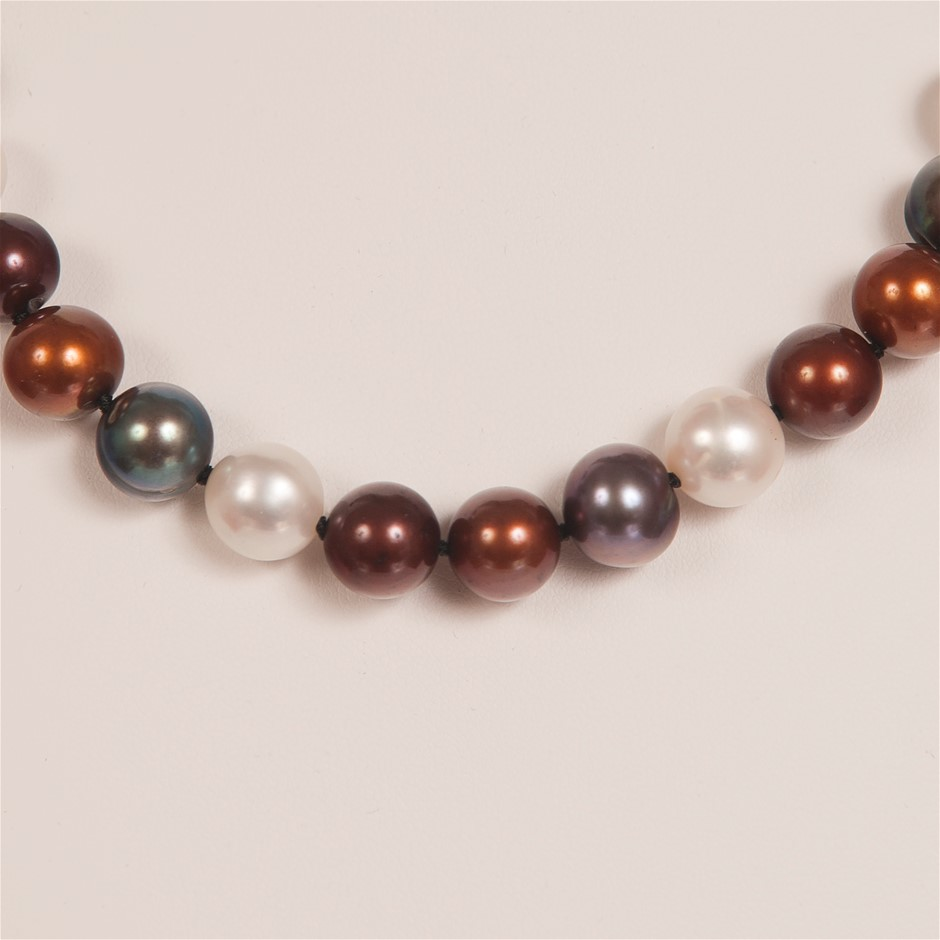 Single Strand Multi Colour Freshwater Pearl Necklace