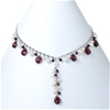 Sterling silver with freshwater pearl and crystal necklace
