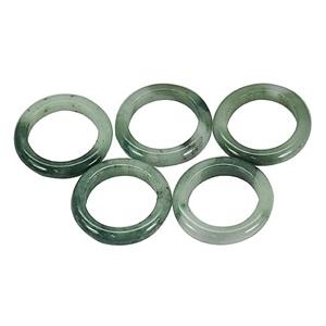 70.48ct. Genuine Green Jadelite Rings 5