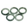 70.48ct. Genuine Green Jadelite Rings 5 Piece