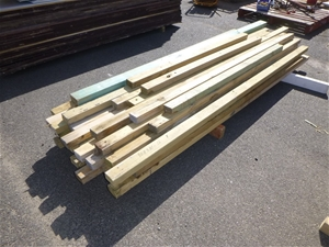 Bundle of Treated Pine Wood