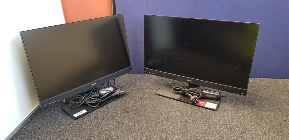 Qty 2 x Benq EW2440 24 Inch Full HD LED Backlit LCD Monitors