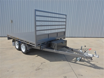 "2019 Basic Trailers Tandem 10 x 7"" Tipping Trailer"