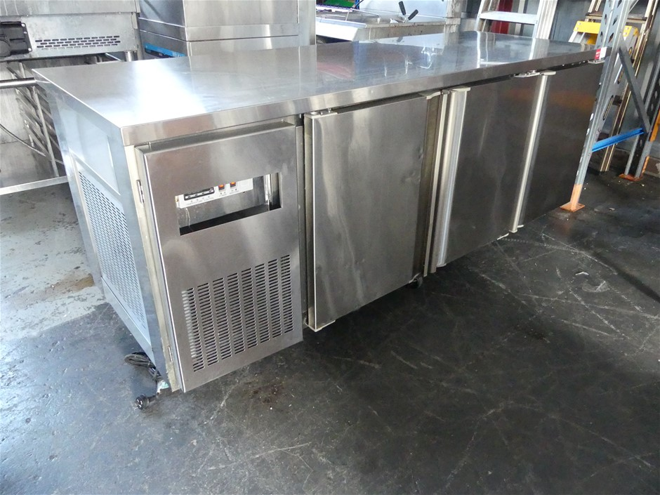 2011 Artisan M2121 Stainless Steel Mobile 3 Door Underbench Refrigerator