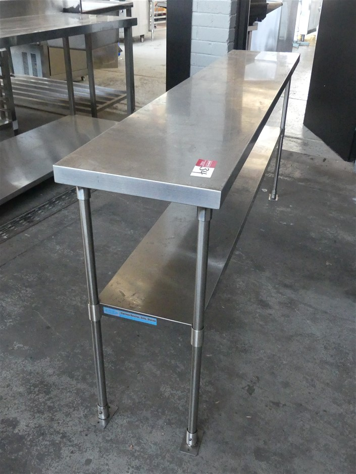 Stainless Steel Narrow Food Preparation Bench