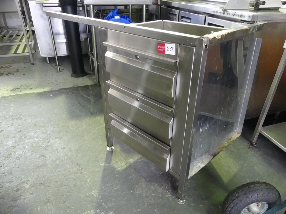 Stainless Steel Underbench Draw Unit