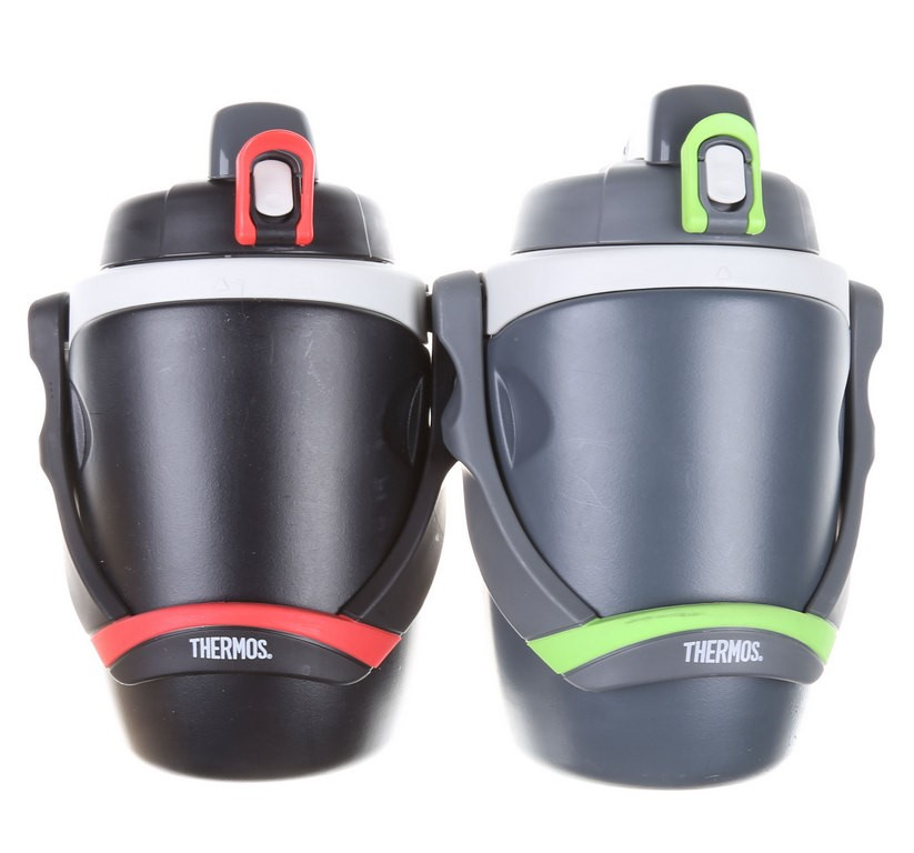 THERMOS 2PK Double Wall Foam Insulated Flip-Up Lid Hydration Water Bottle w