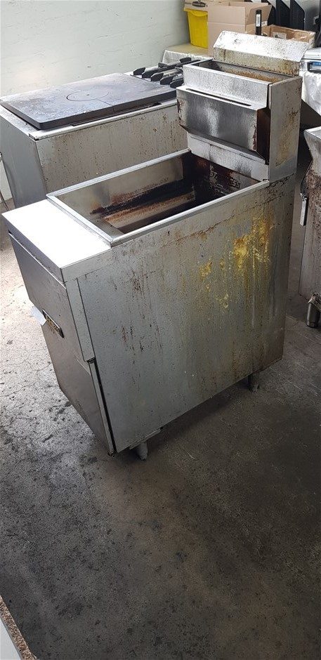 2004 ANETS 20L Stainless Steel Freestanding Single Pan GAS Deep Fryer