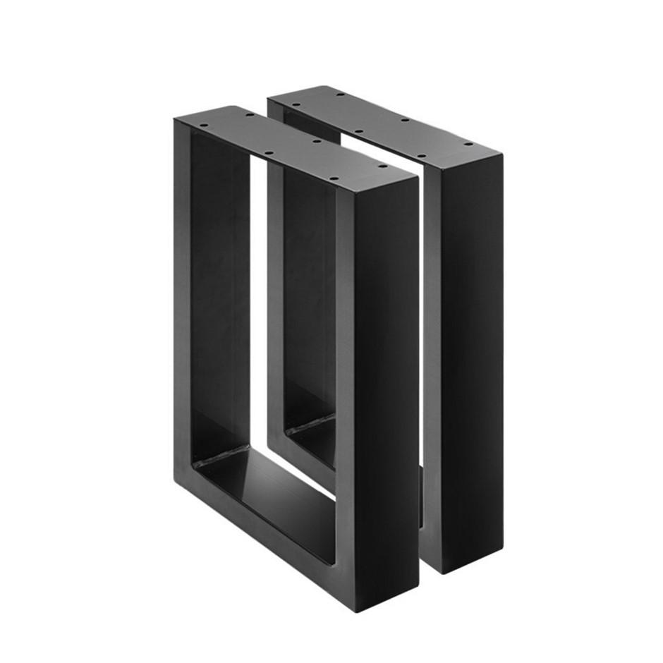 2x Coffee Dining Table Legs Steel Industrial Vintage Metal Box Shape 400MM