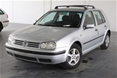 Unreserved 2000 Volkswagen Golf GL A4 Manual Hatchback