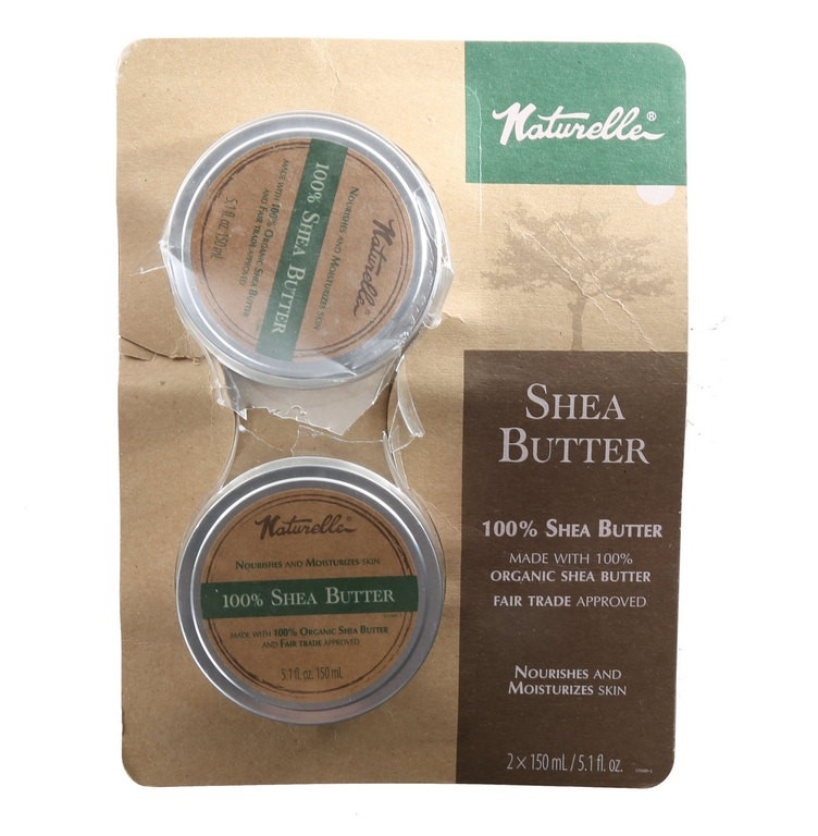 2 x NATURELLE Organic Shea Butter 150ml. N.B. One has been opened. (SN:CC42