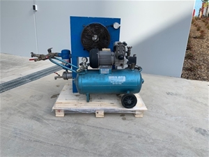 Twin cylinder Air Compressor with air co