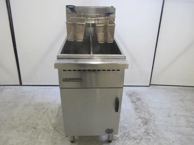 Goldstein Gas Double / Split Pan 2 Basket Deep Fryer Model: 1