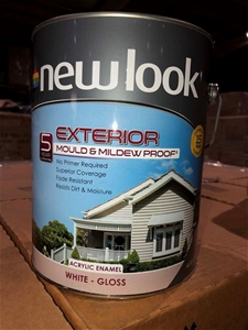 4ltr White Gloss Exterior Paint, Mould &