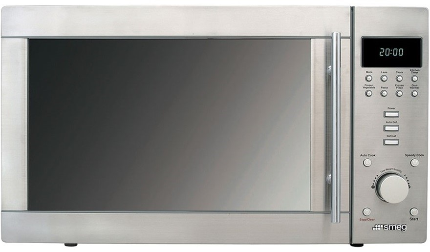Smeg 34L Stainless Steel Microwave Oven, Model: SA37X
