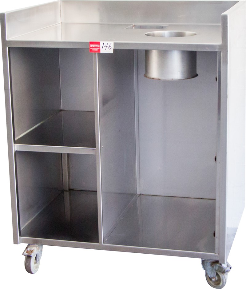 Stainless Steel Mobile Cleaning Bench